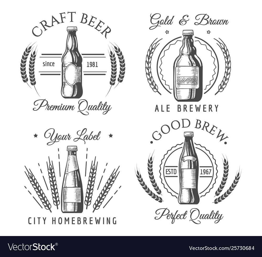 Artisanal craft beer labels