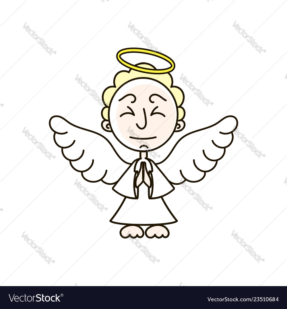 Christmas angel decoration design vector image