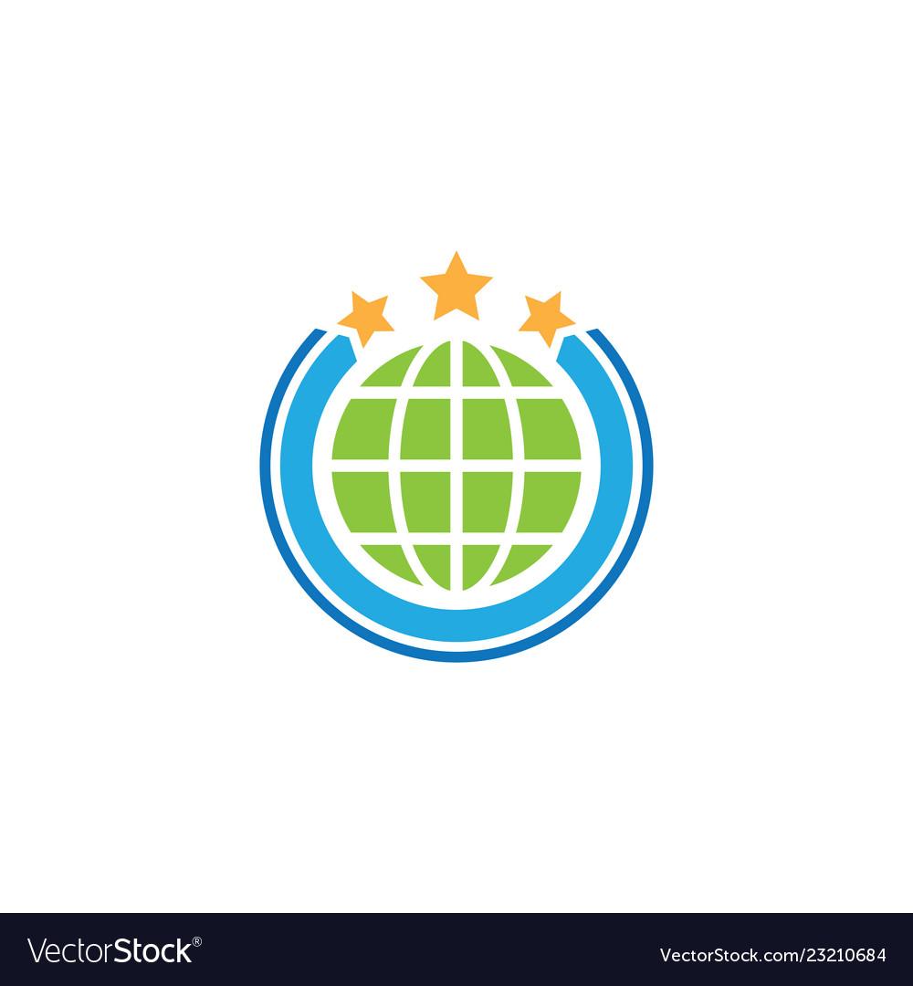 Circle global star business logo