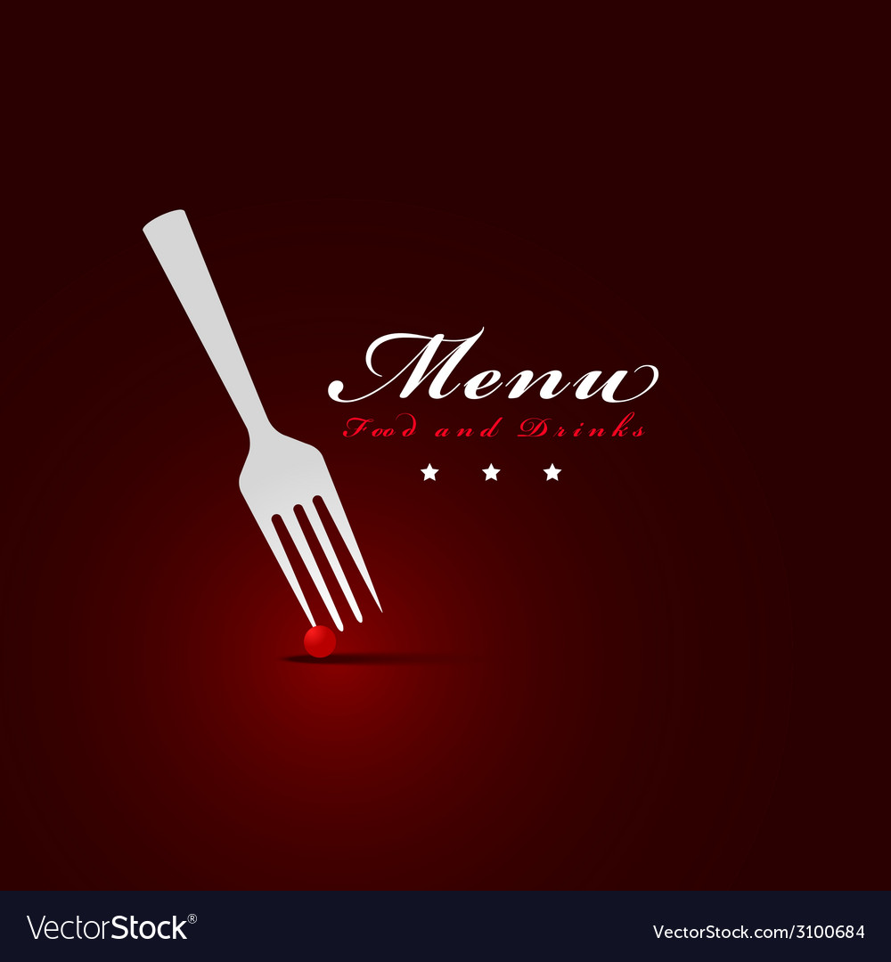 Fork menu restaurant cover