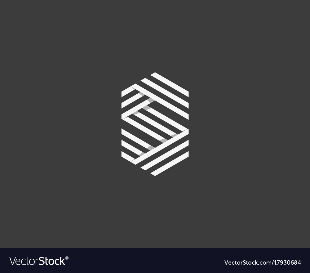 Line letter s logotype abstract geometric logo