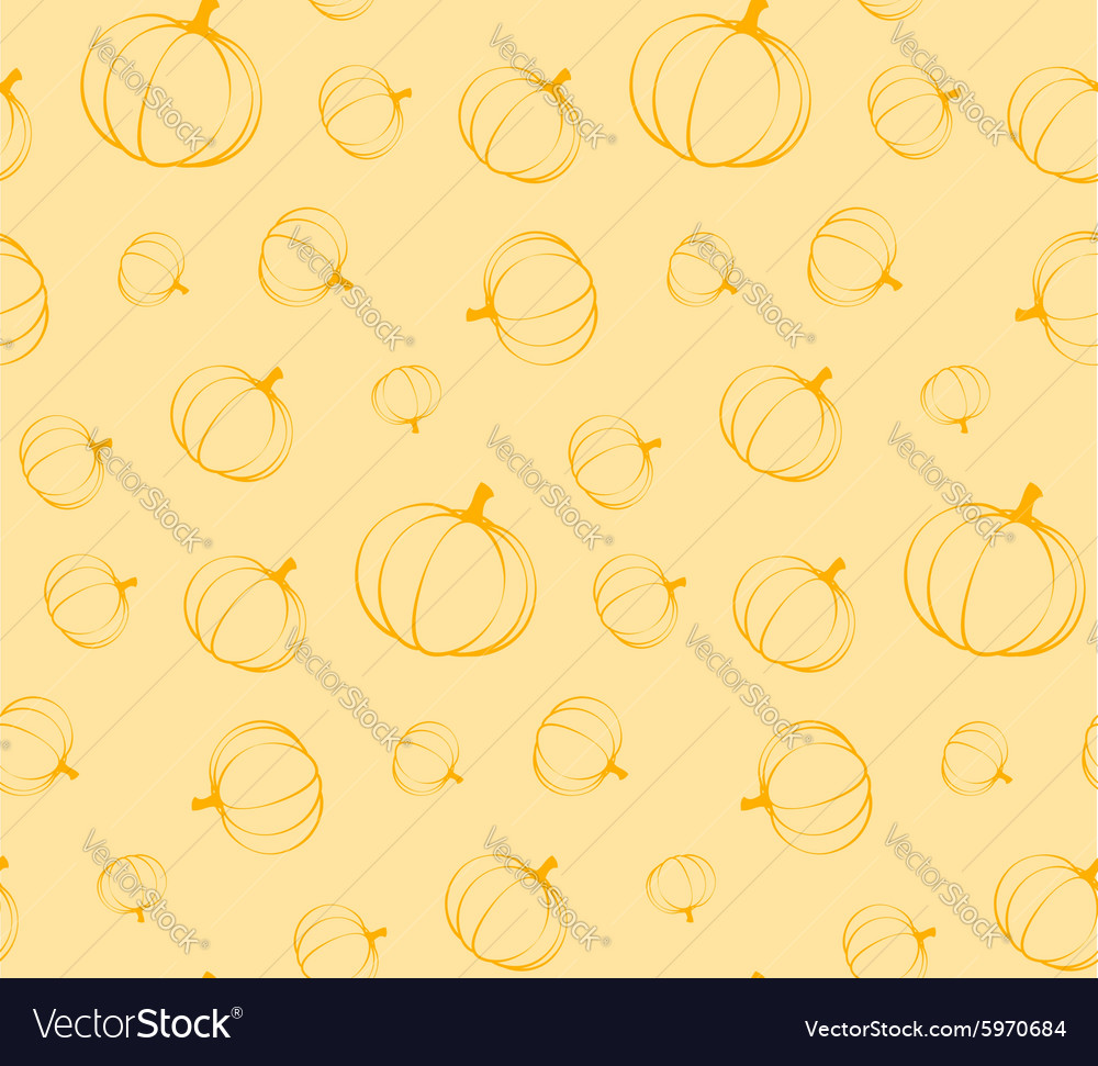 Pumpkins seamless pattern