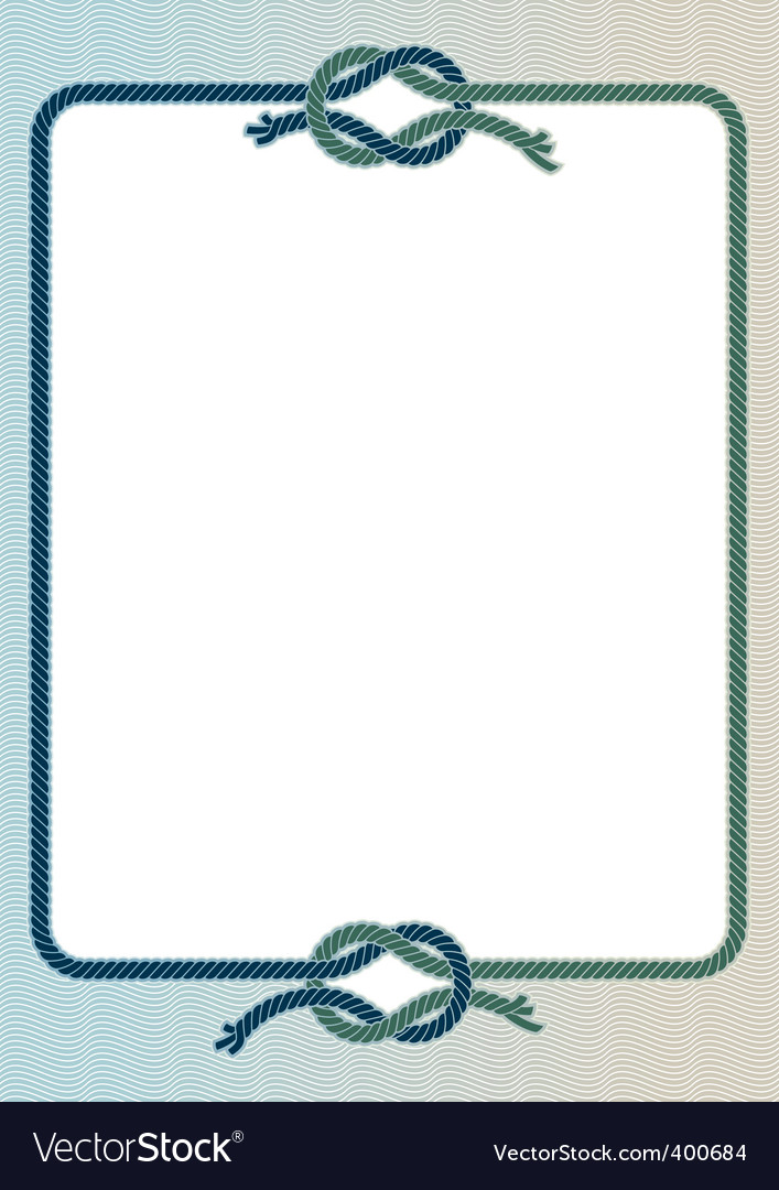 Sea knots frame vector image