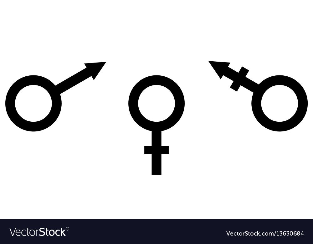 Sign symbol of gender equality male female and