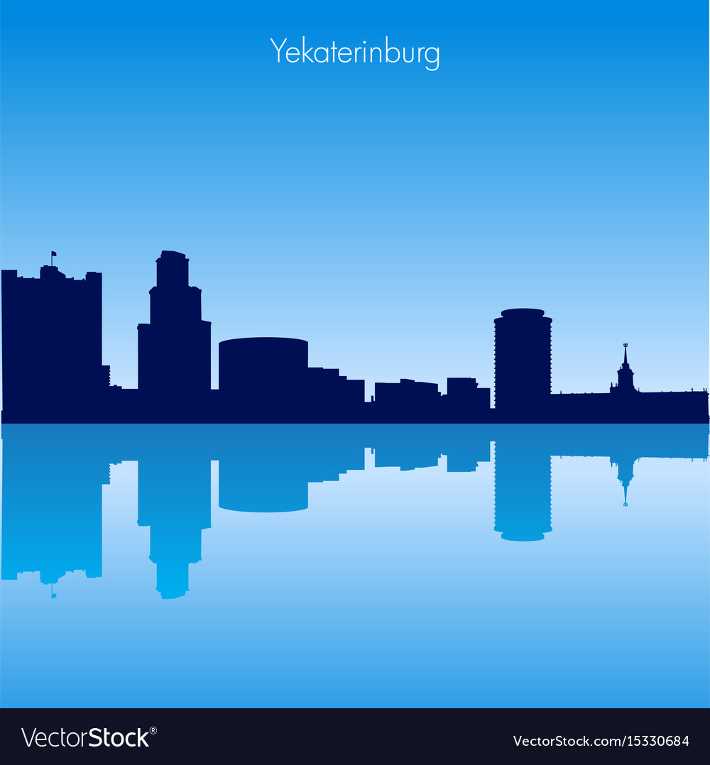Skyline of yekaterinburg russia vector image