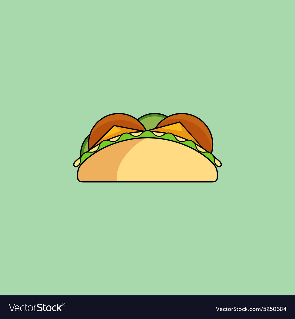Tacos and burrito line icon