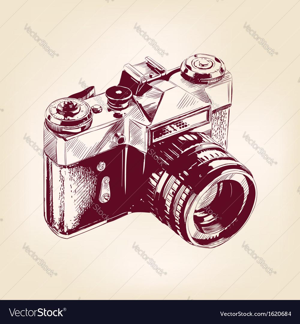 Vintage old photo camera llustration