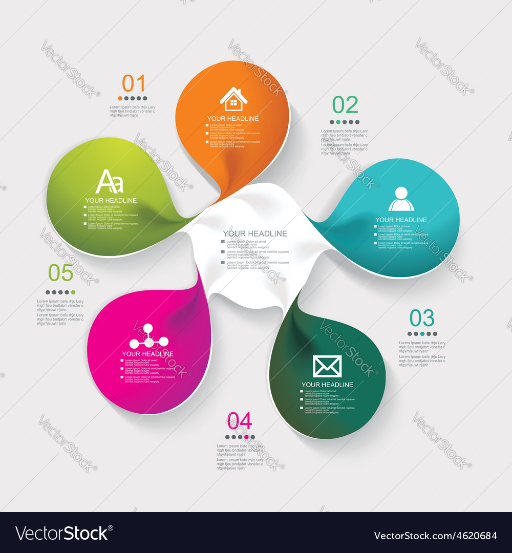 Web page design from modern spiral banners vector image