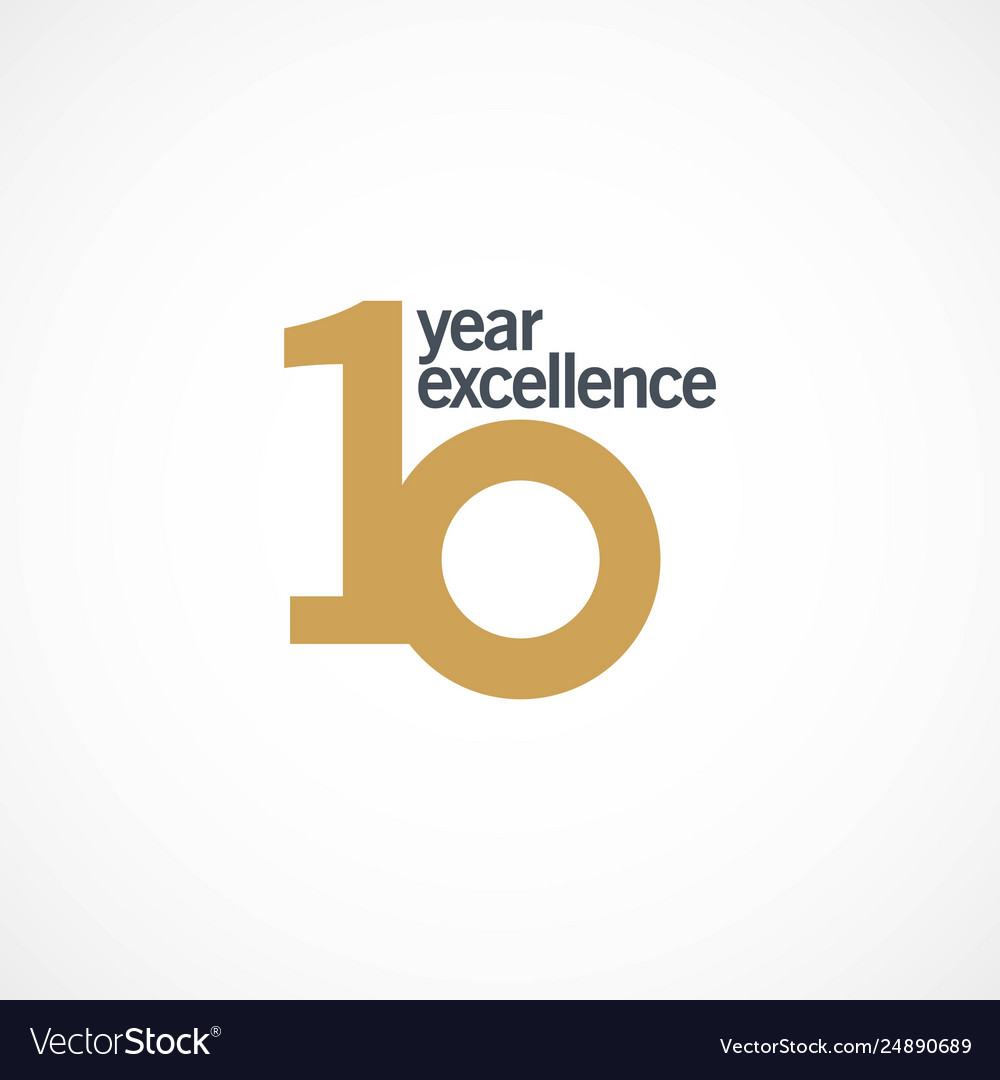 10 year anniversary excellence template design