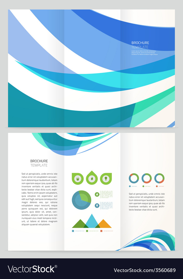 Abstract Wave Brochure Template Royalty Free Vector Image - Pricing flyer template