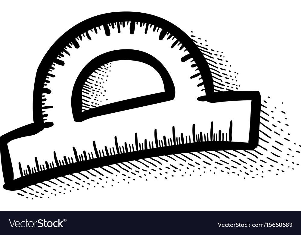 Cartoon image of protractor vector image