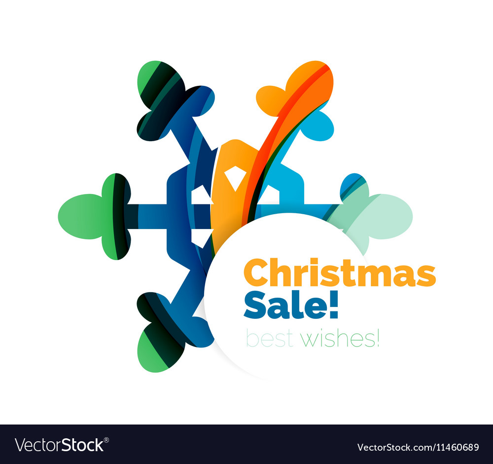 Christmas colorful geometric abstract background