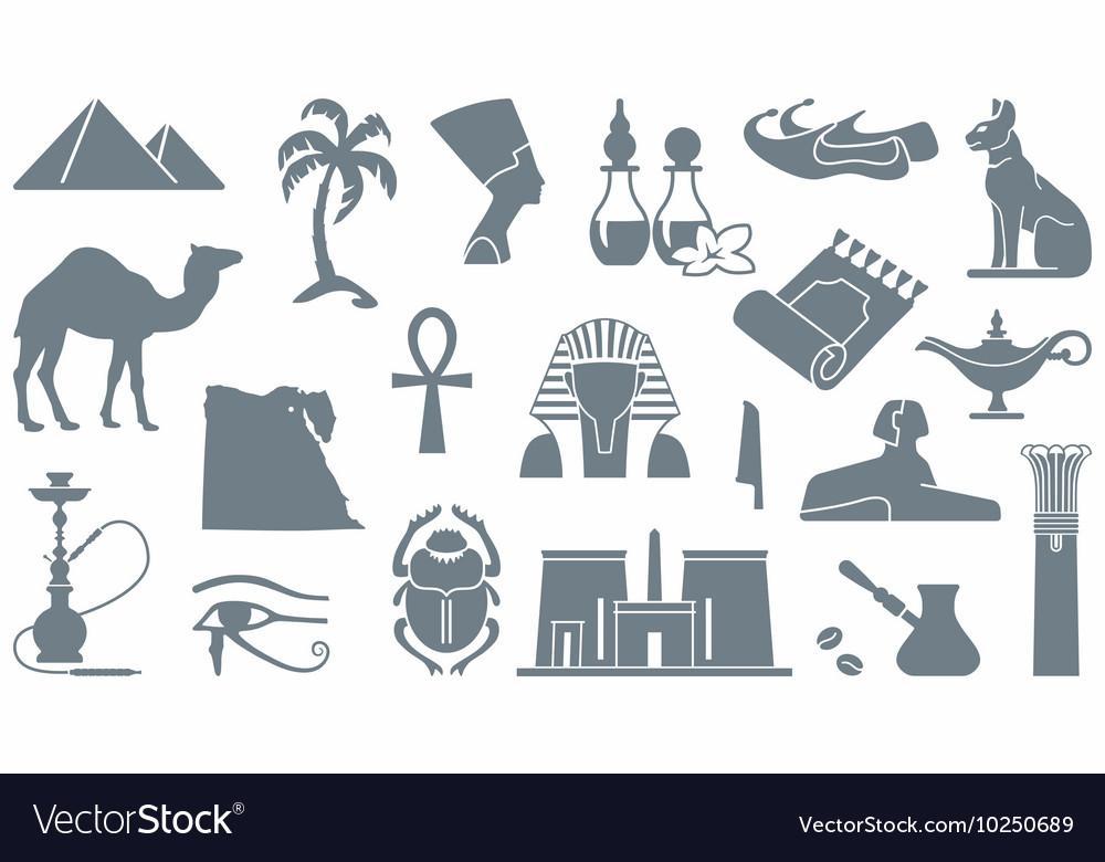 Egyptian Symbols Royalty Free Vector Image Vectorstock