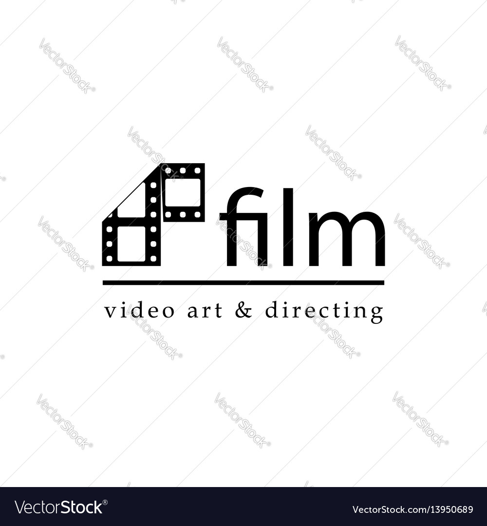 Film strip simple conceptual logotype vector image