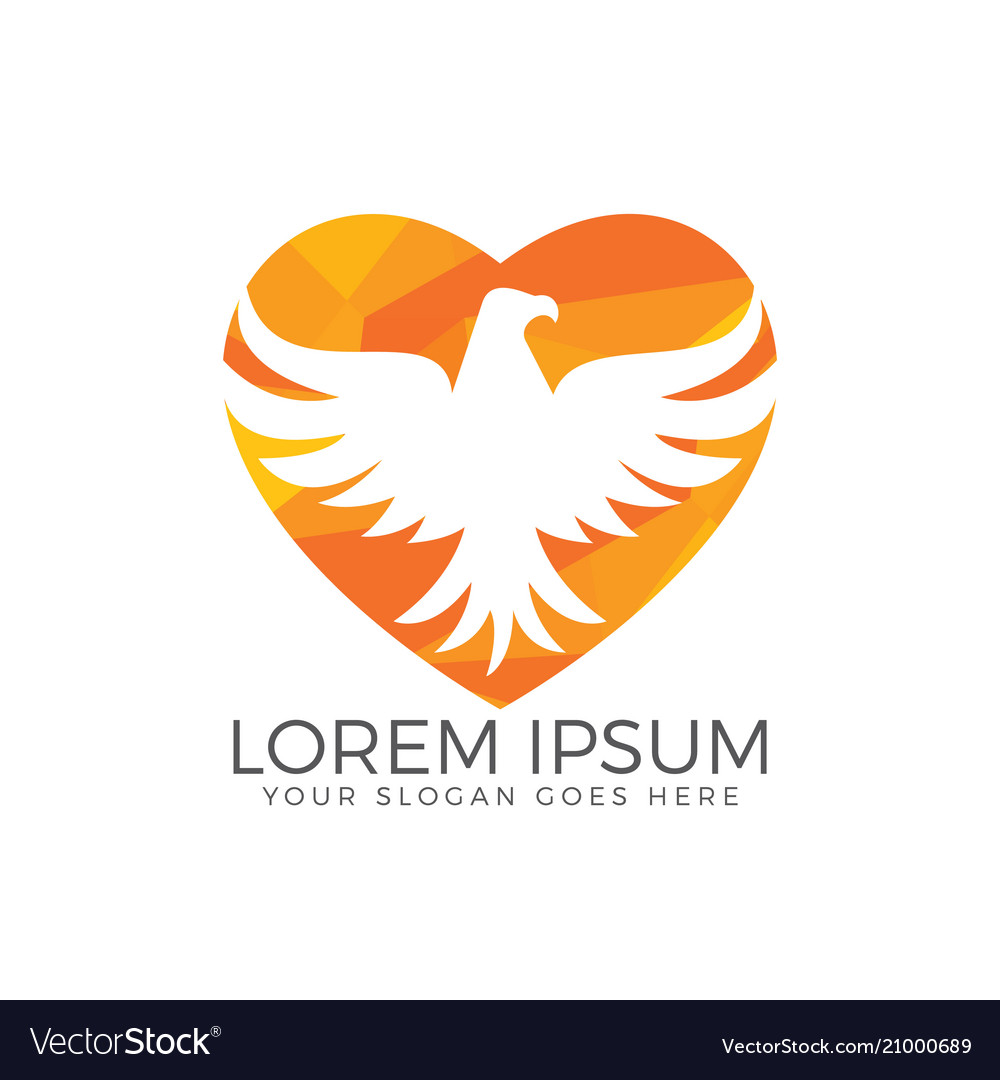 Hawk or eagle logo design vector image