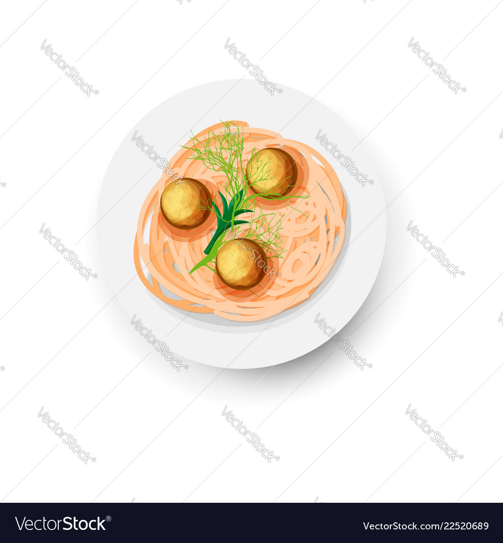 Icon of pasta in plate