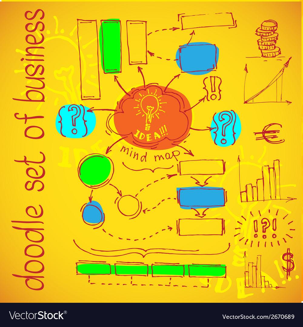 Infographics flowchart Doodle