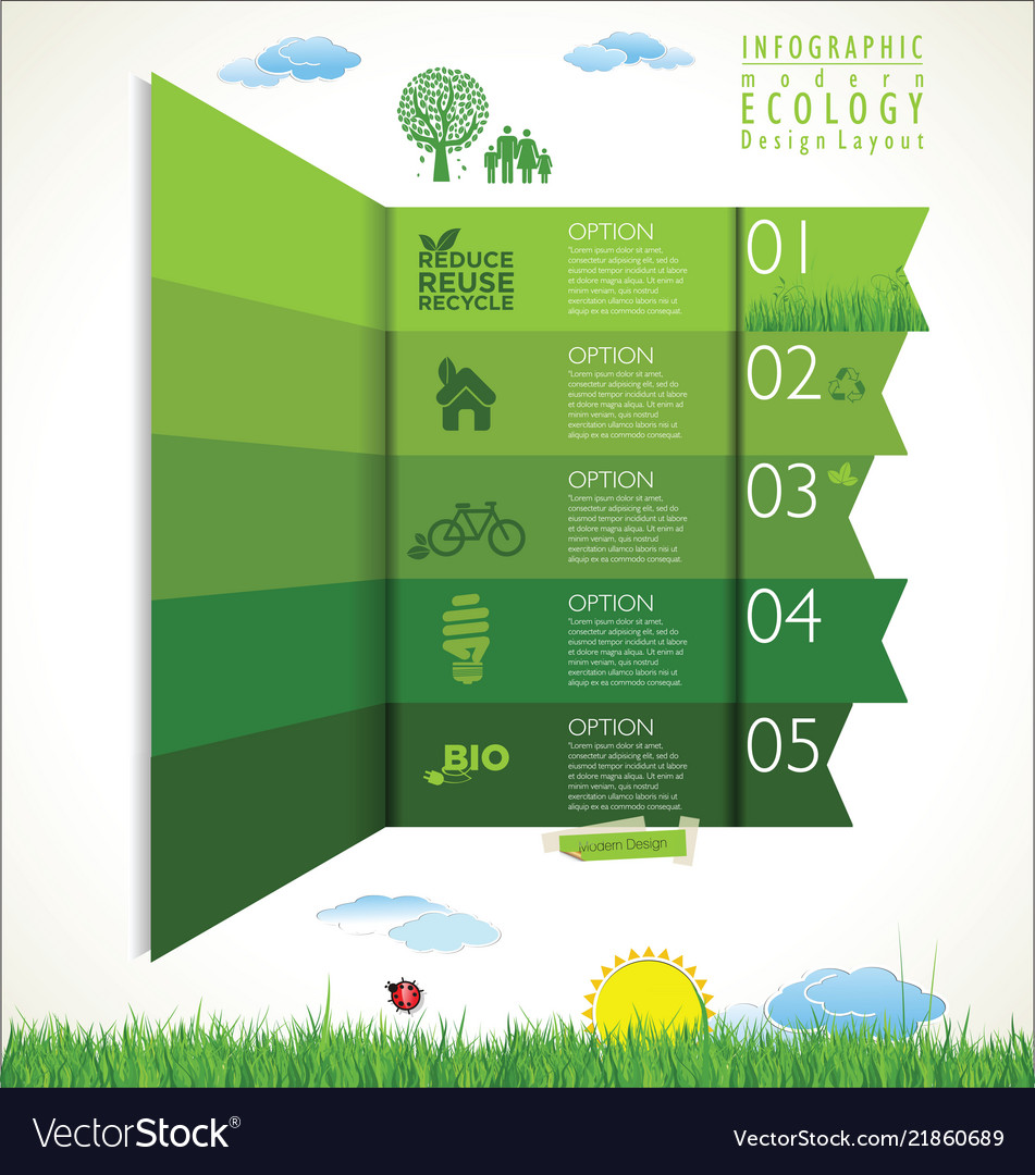 Modern ecology green background design layout
