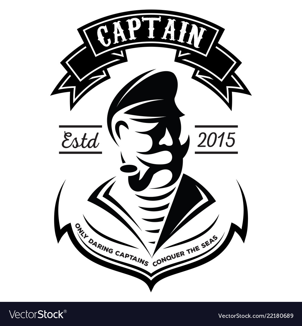 Monochrome pattern with captain or sailor