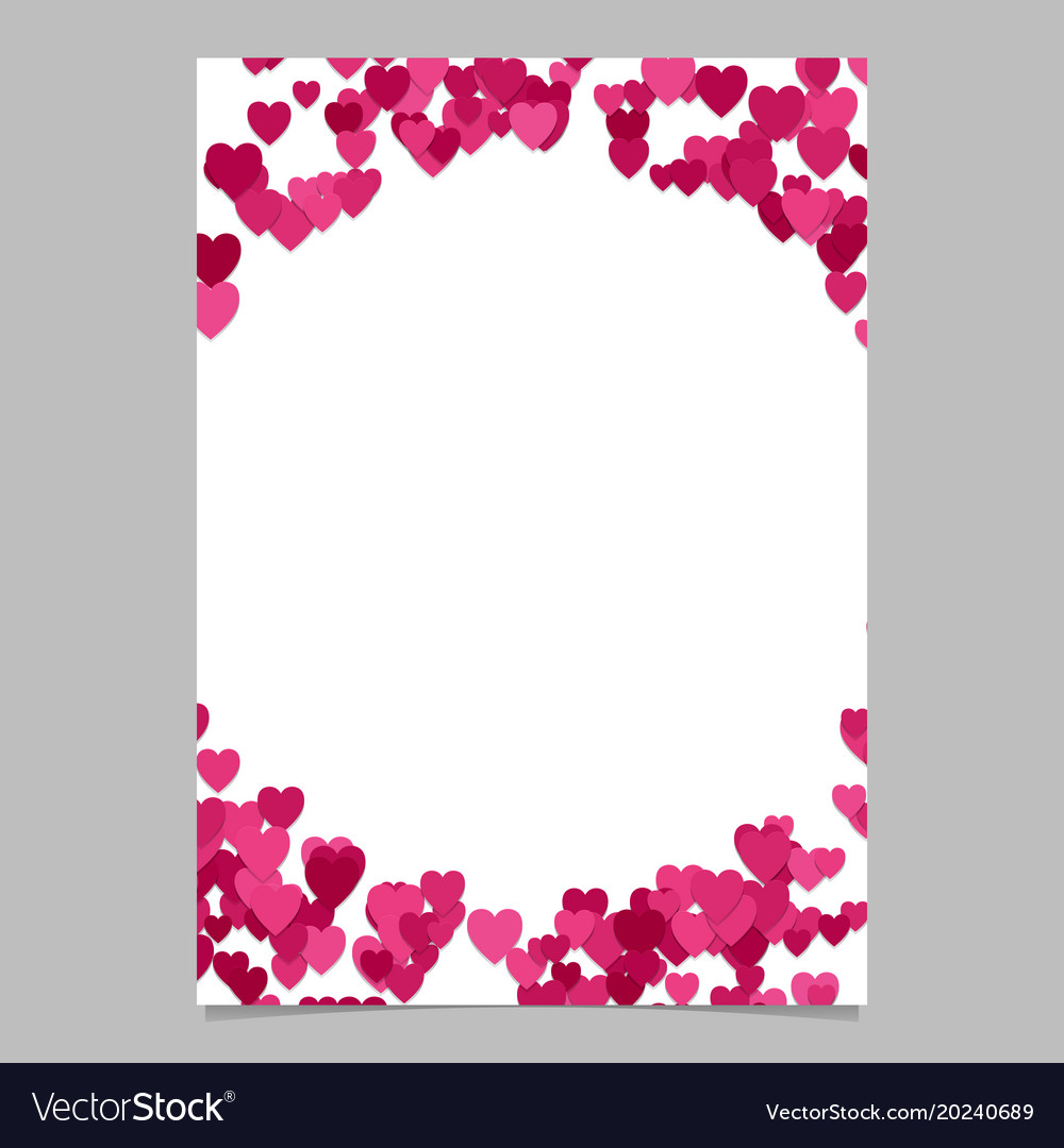Random heart page border background design - love