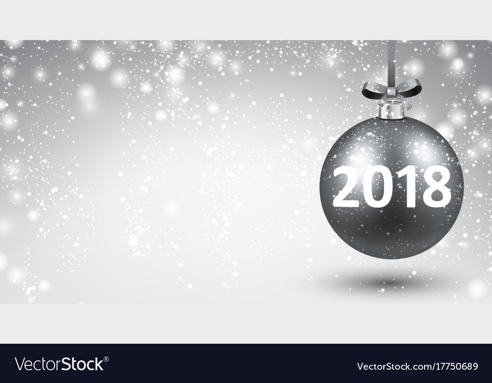 silver shining 2018 new year background vector image