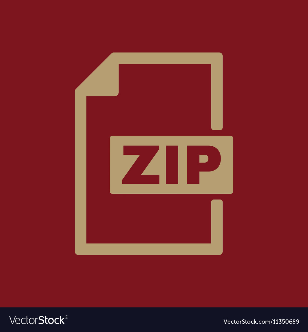 The ZIP file icon Archive and compressed symbol