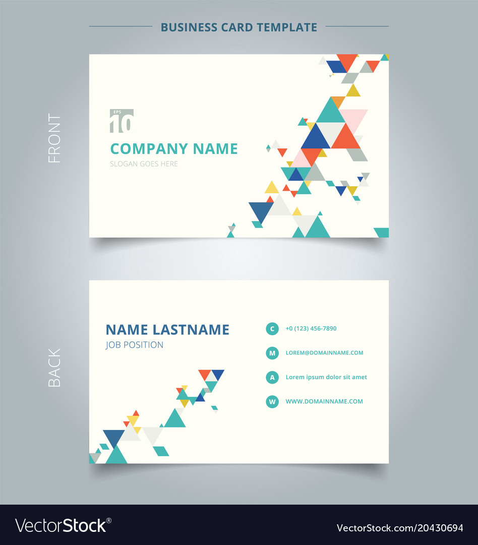 Creative business card and name card template vector image accmission