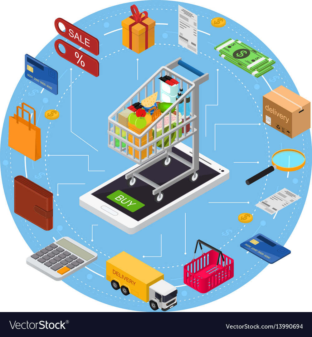 E-commerce concept vector image