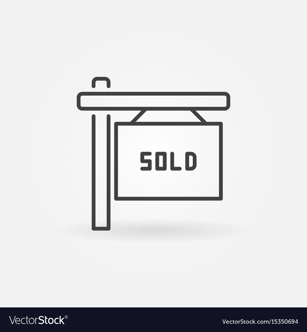 House sold line icon