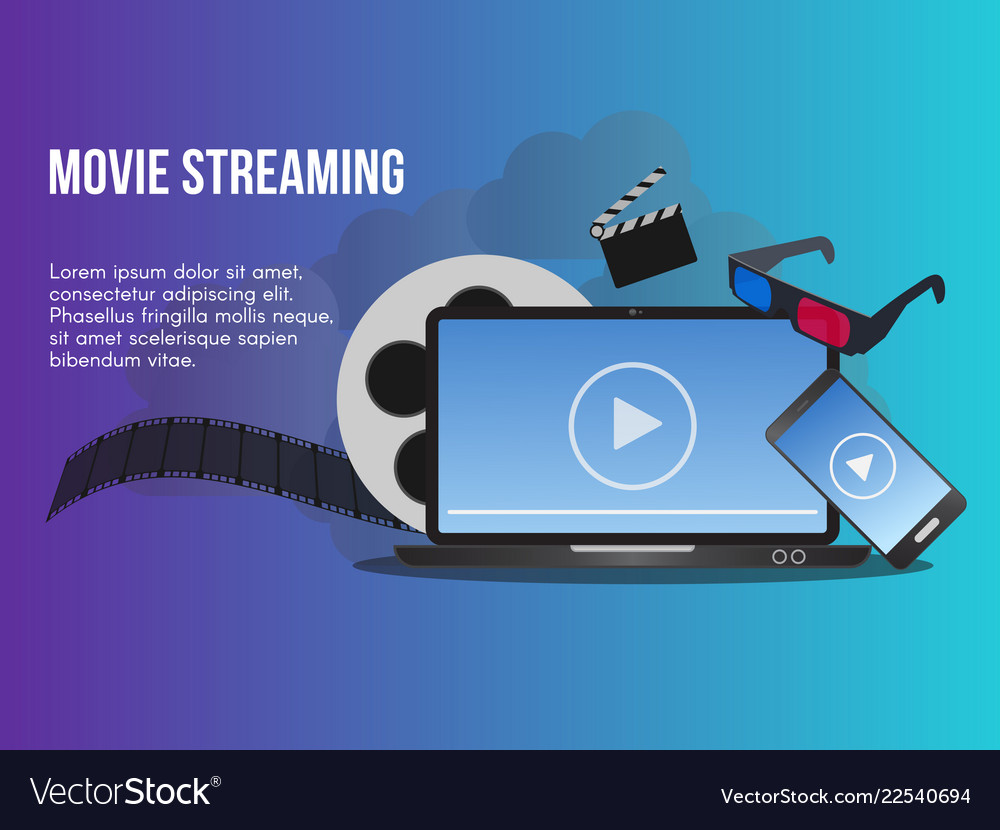 Movie streaming concept design template