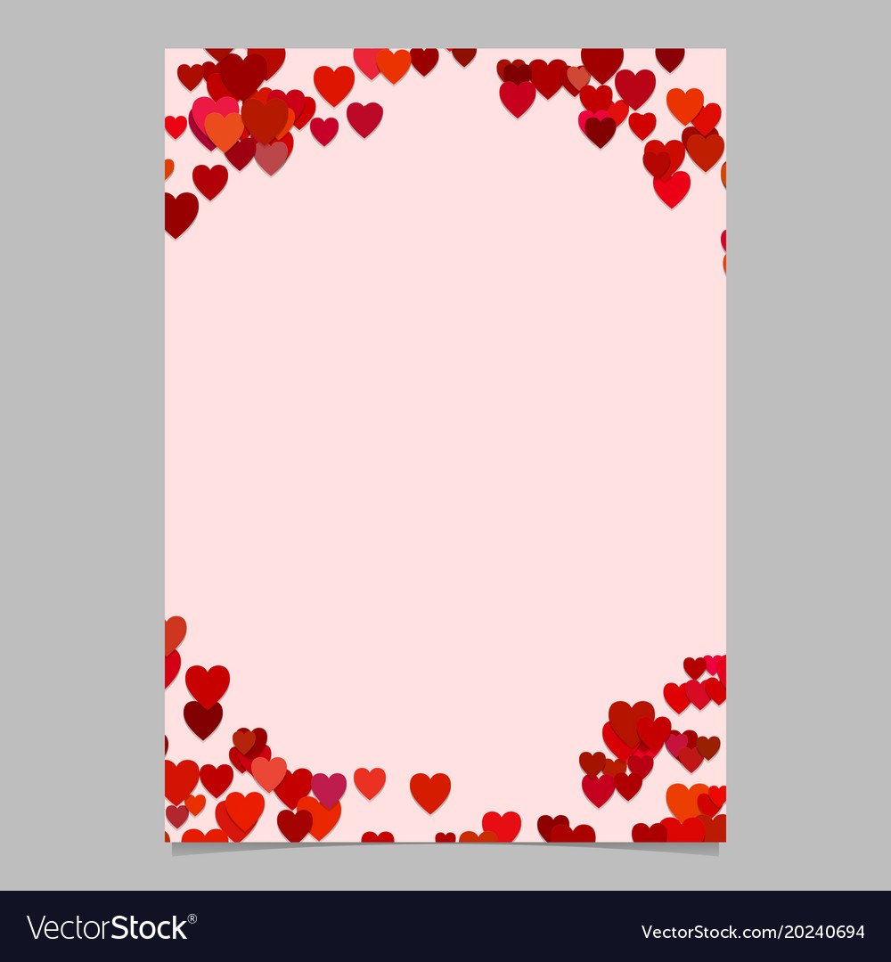 Random heart page background design - love
