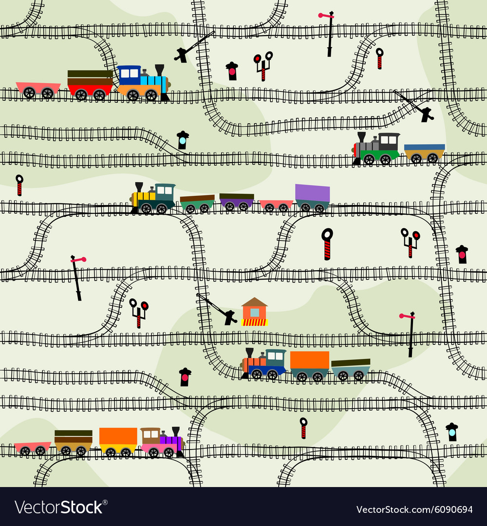 Seamless pattern railway