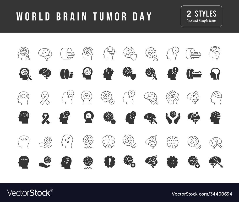 Simple icons world brain tumor day