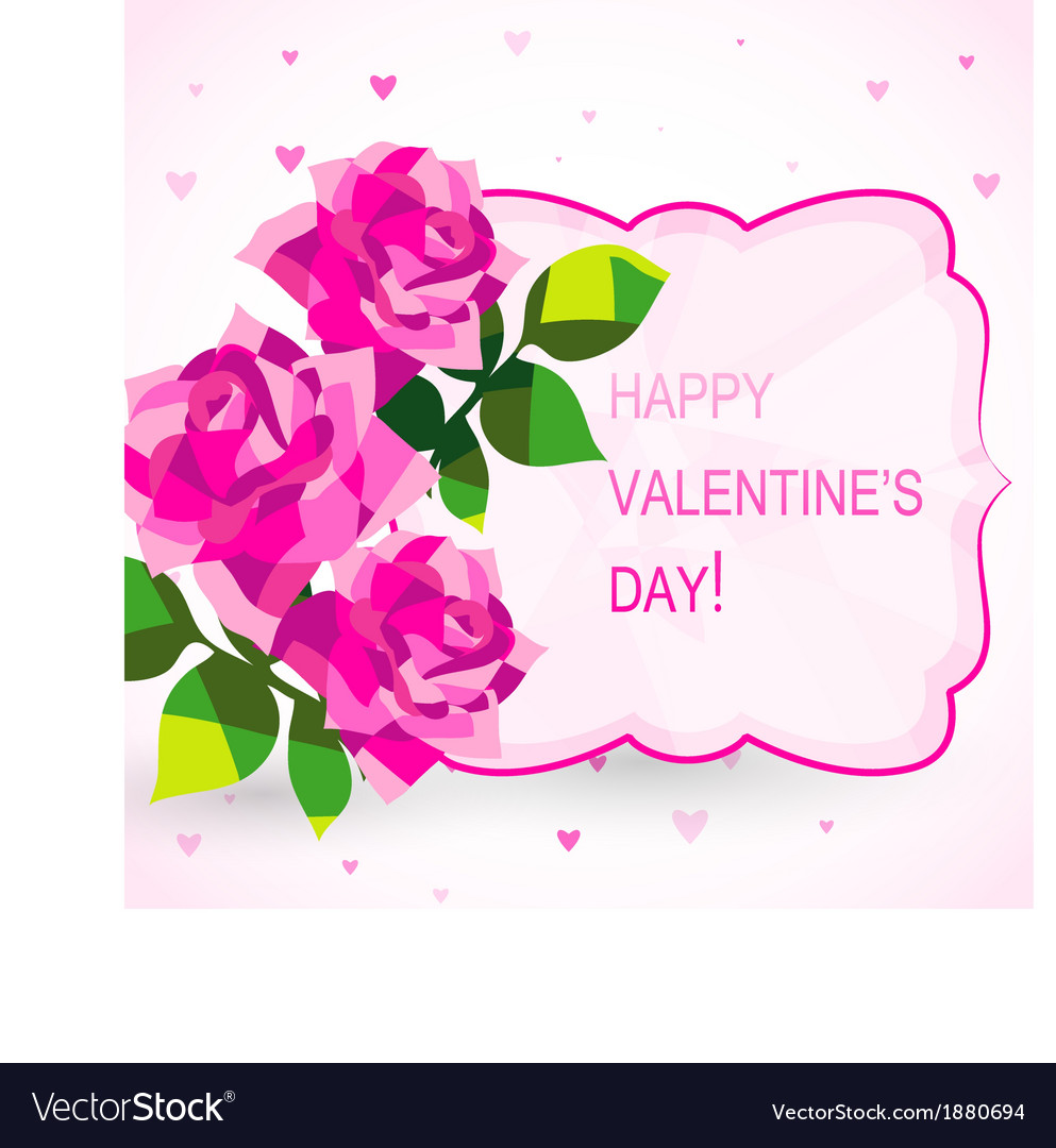 Valentines day card with beautiful flowers vector image izmirmasajfo