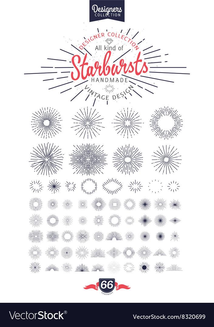 66 handmade starburst
