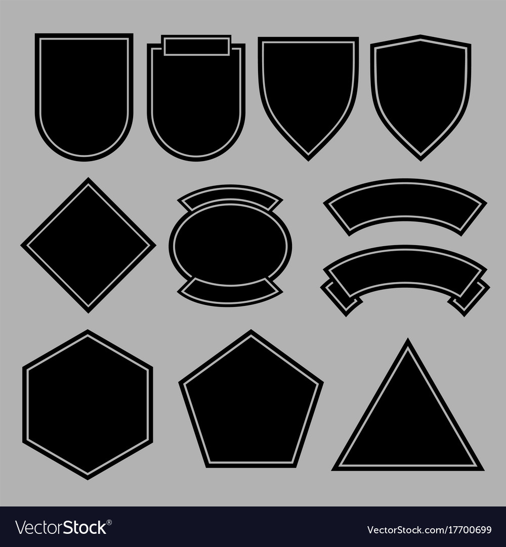 army patches or military badges template design vector image
