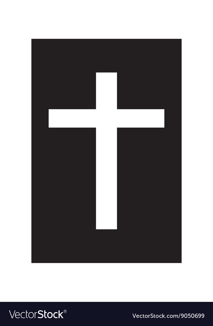 Bible and cross vector image