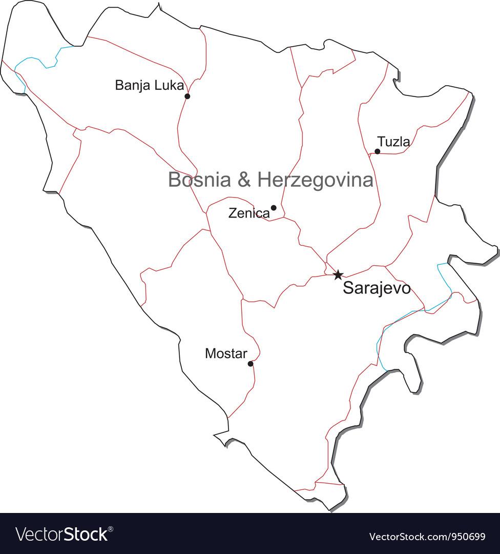 Bosnia Herzegovina Black White Map on croatia map, luxembourg map, eritrea map, bulgaria map, srebrenica massacre, monaco map, serbia map, austria map, iran map, bosnian war, vatican city map, turkey map, estonia map, albania map, slovakia map, slovenia map, republika srpska, macedonia map, hungary map, ukraine map, kosovo map, republic of macedonia, san marino map,