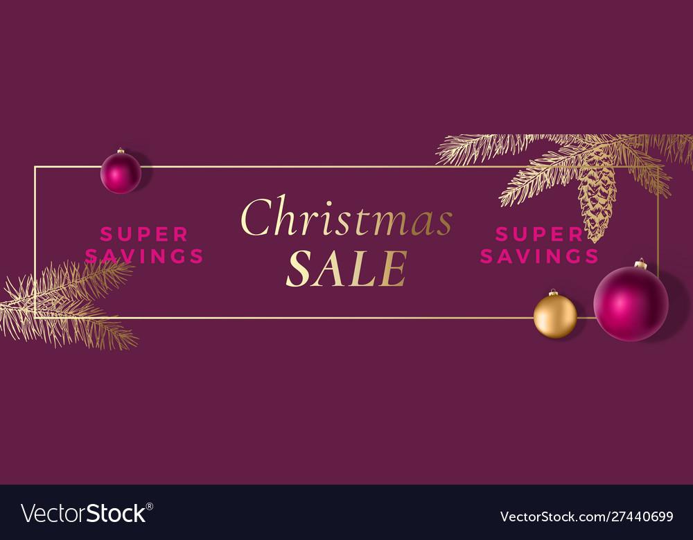 Christmas sale abstract frame greeting