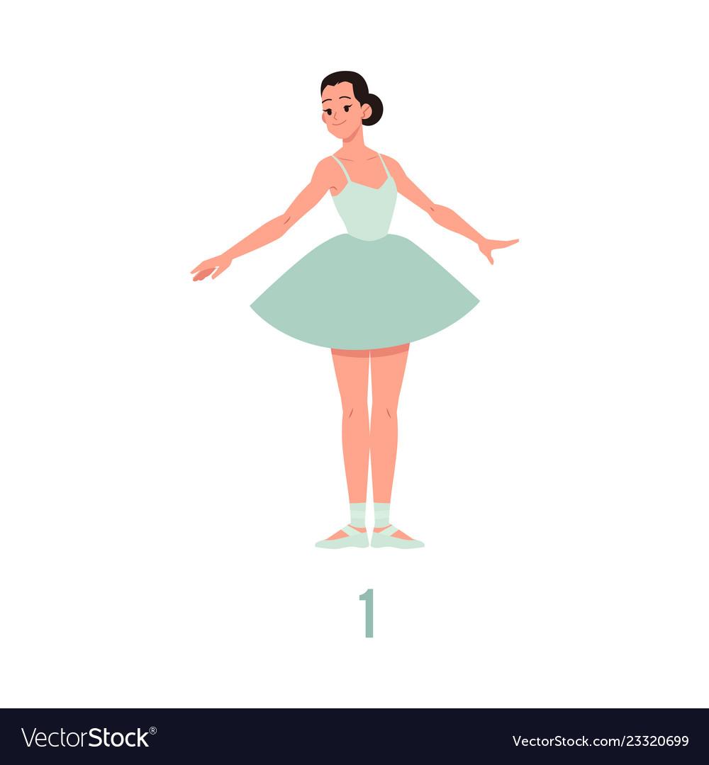 Elegant ballerina in tutu dress dancing