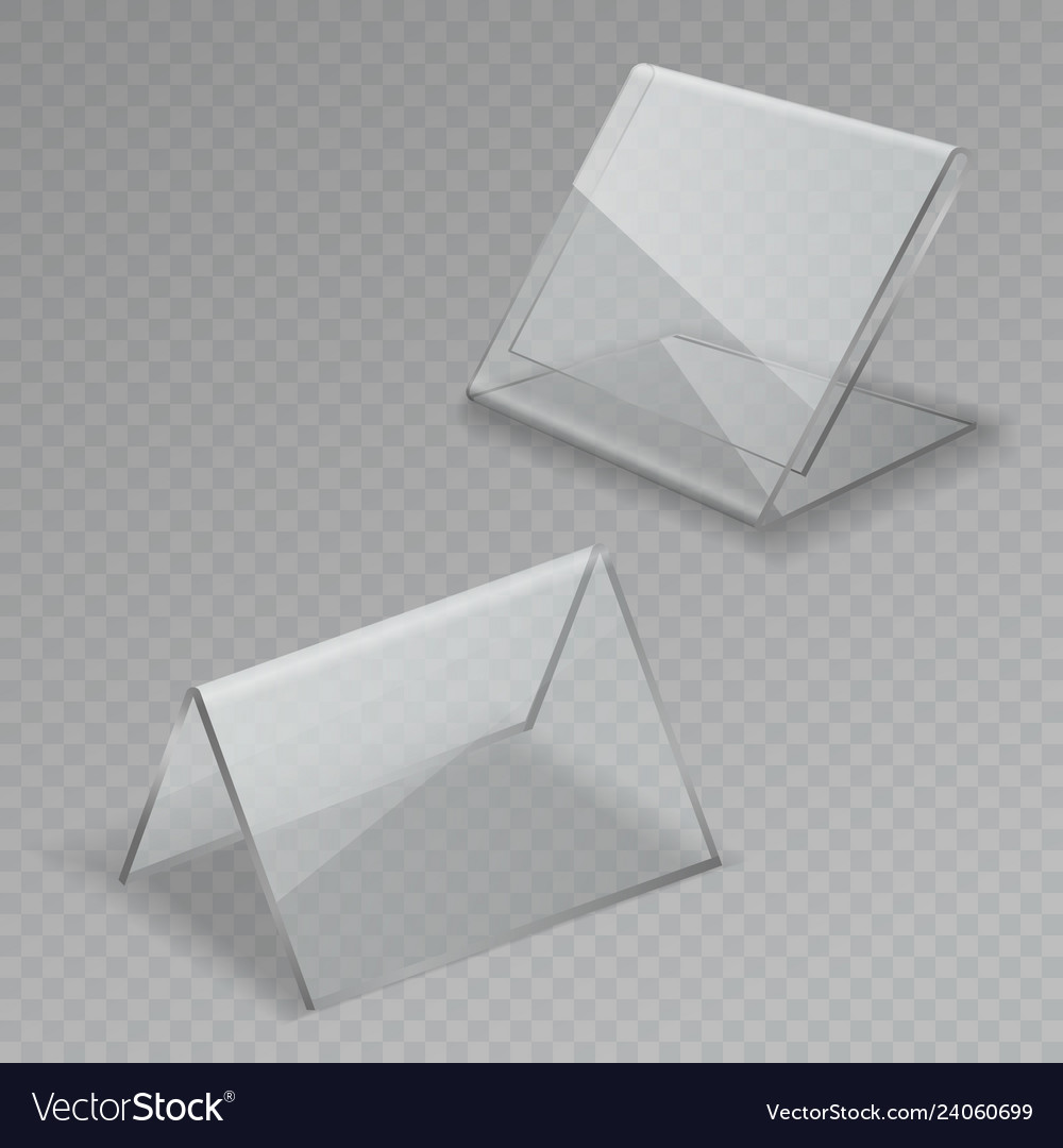Glass table display office blank transparent