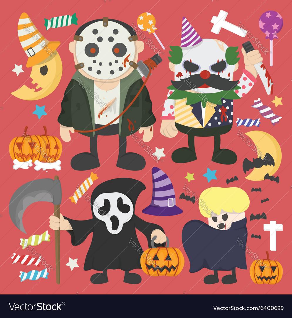 Halloween set Infographic Elements of Jokermurderb vector image