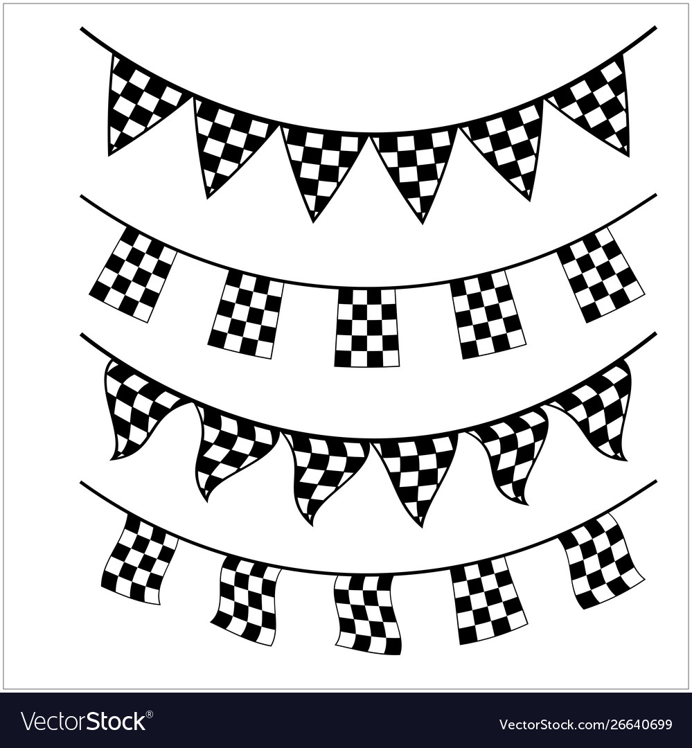 Racing Checkered Flag Banner Royalty Free Vector Image
