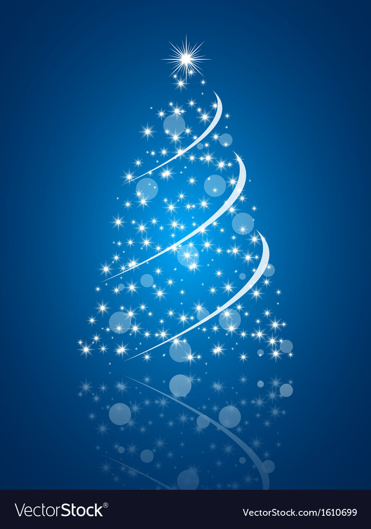 Christmas Tree Backgrounds.Simple Christmas Tree On Blue Background