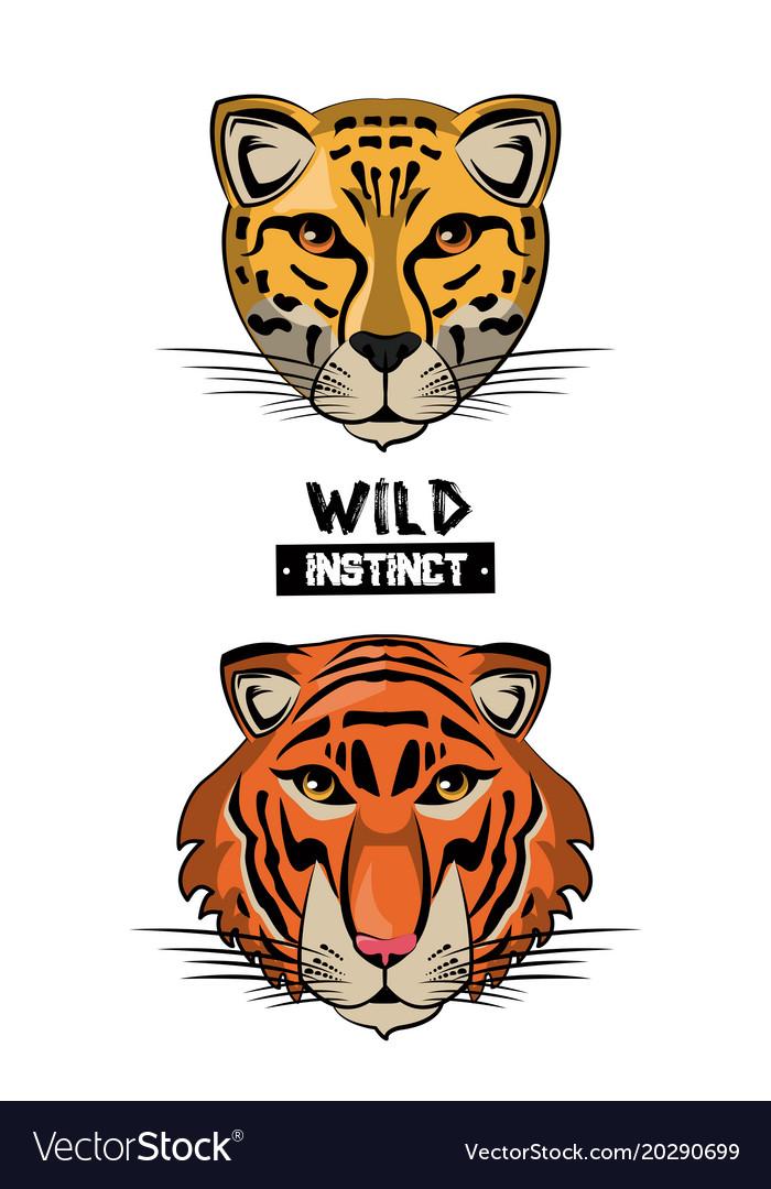 Wild animal print for t shirt