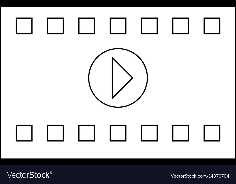 A frame from a movie the black color icon vector image