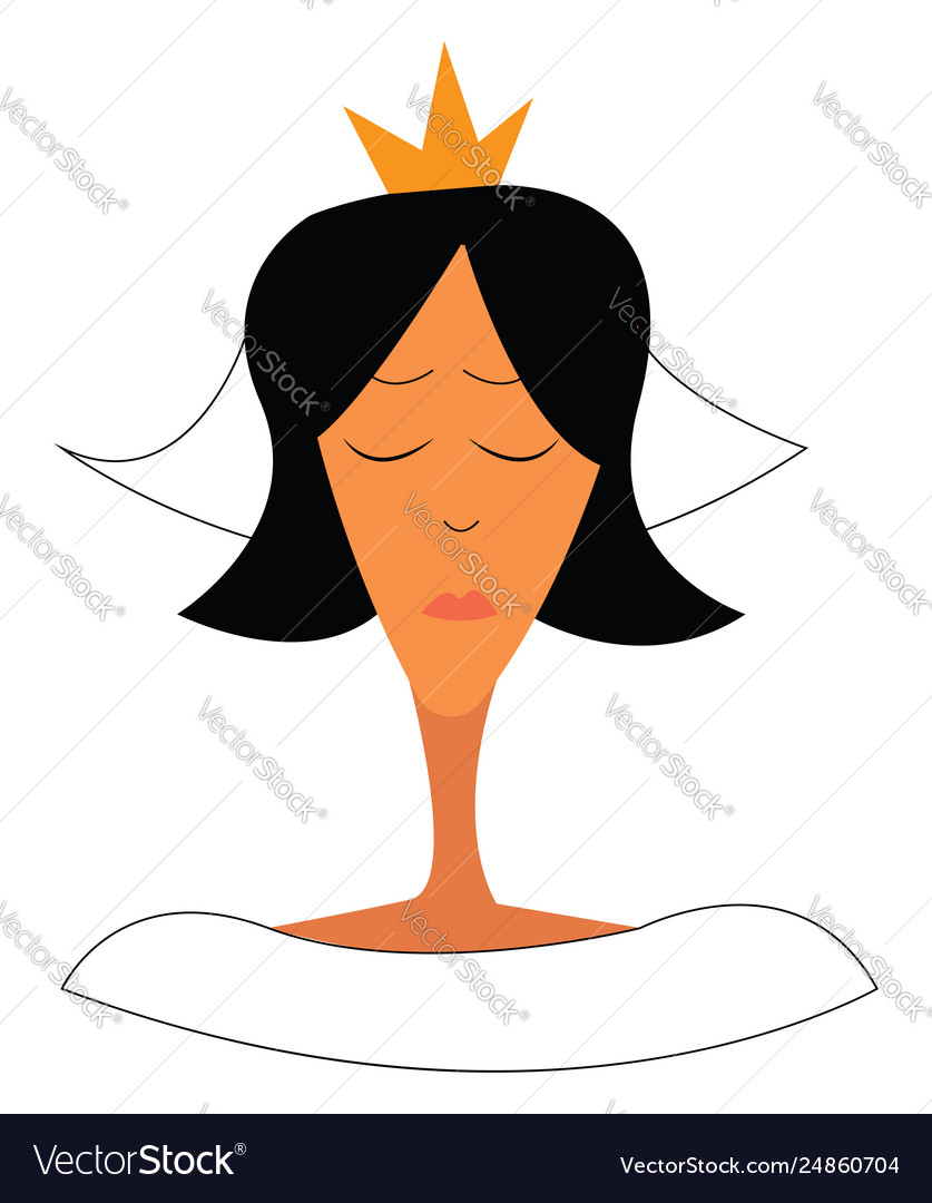 A woman wearing a golden tiara and in her