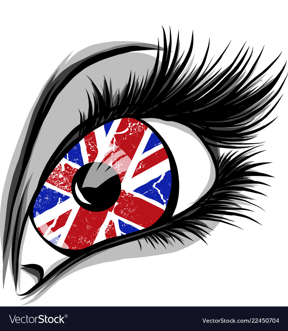 Flag great britain in beautiful male or