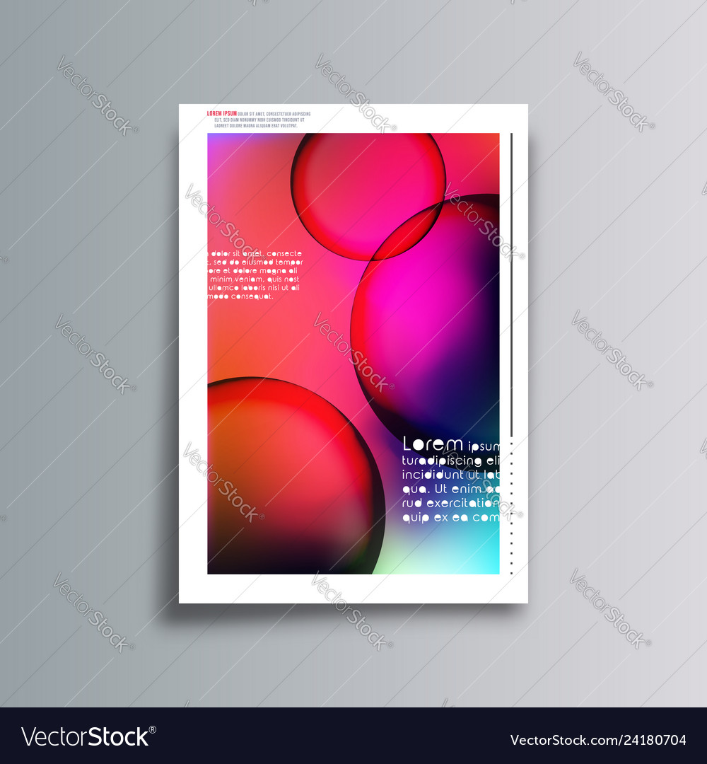 Gradient colorful cover background for the