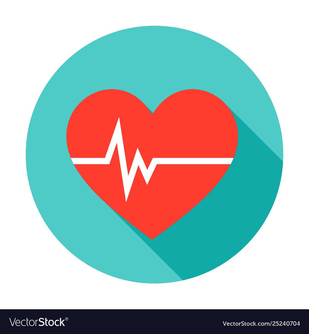 Heart pulse circle icon